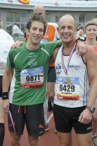Met Jos Lempers na de finish