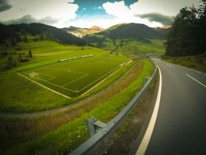 Voetbalveld bij de Reschenpas
